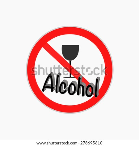 No alcohol drinks vector icon - stock vector