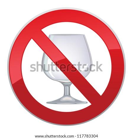 No alcohol sign - stock vector
