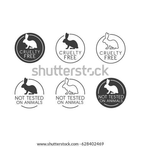 No Animals Testing Icon Design Animal Stock Vector Royalty Free