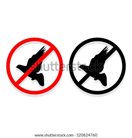 No bird icons set great for any use. Vector EPS10.  - stock vector