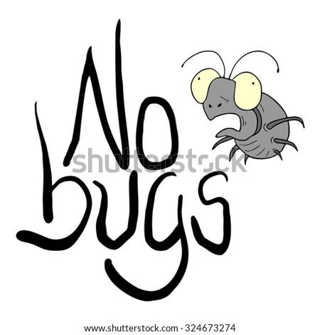 no bugs message - stock vector