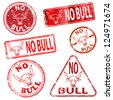 No bull.  Grungy rubber stamp vector illustrations - stock photo