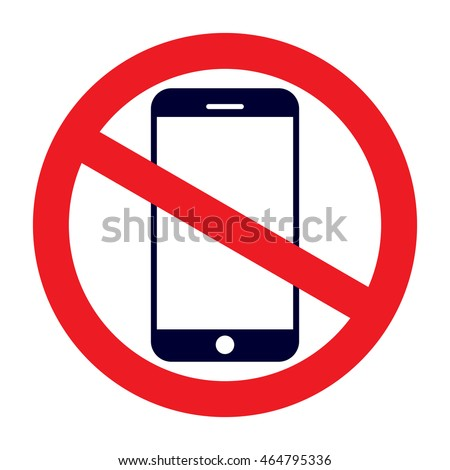 no cell phone sign stock vector royalty free 464795336 shutterstock
