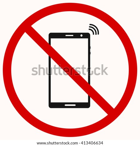 No Cell Phone Sign.No call sign. Red prohibition vector symbol. You can simply change color and size