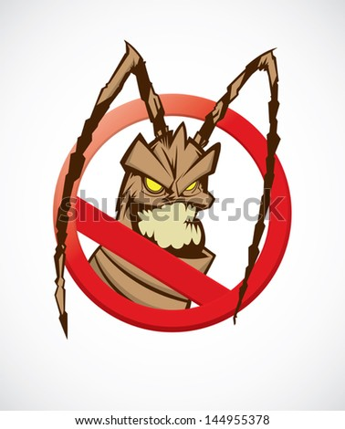 no cockroach - stock vector