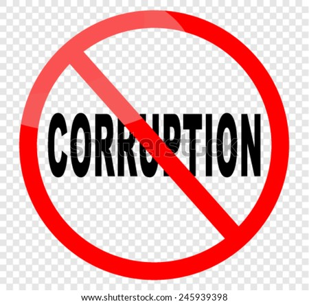 no corruption - stock vector