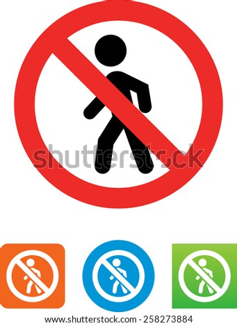 No crossing symbol for download. Vector icons for video, mobile apps, Web sites and print projects.  - stock vector