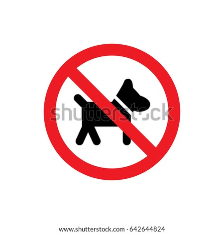 No dog icon illustration isolated vector sign symbol