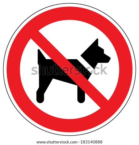 No dogs sign - stock vector