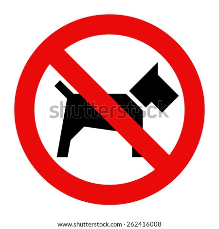 No dogs sign isolated on white background  - stock vector