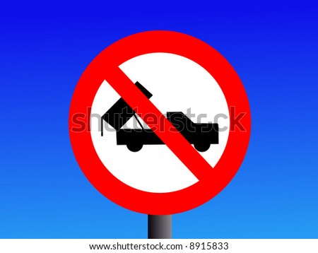 No dumping sign with truck symbol