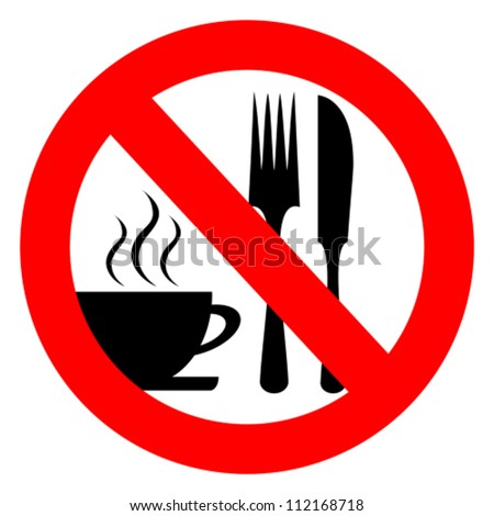 No eat and drink vector sign - stock vector