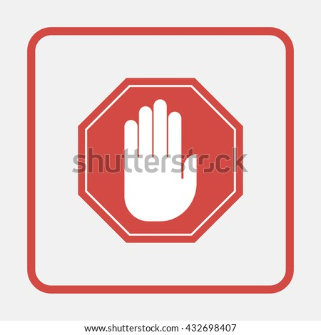 No entry hand sign.