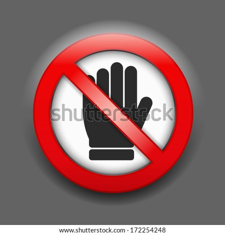 No entry sign, vector eps10 illustration - stock vector