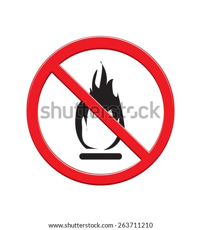 No fire sign - stock vector