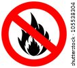 No fire vector sign - stock vector