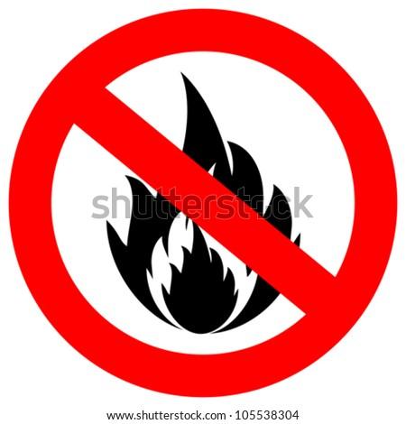 No fire vector sign - stock vector