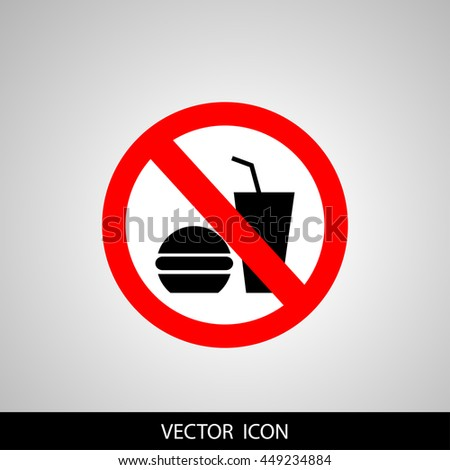 no food or drink allowed symbol prohibiting sign