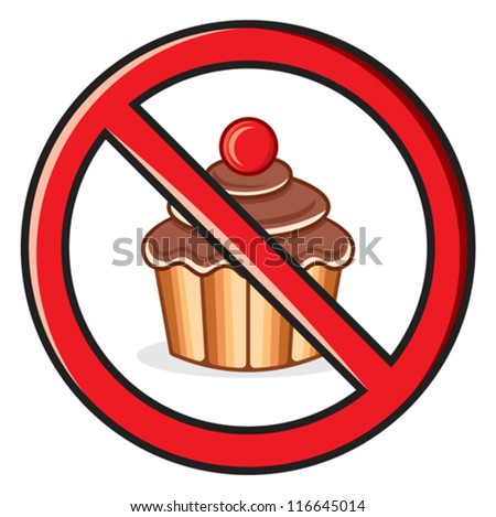 No food  sign - stock vector