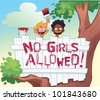 No Girls Allowed Tree House - stock photo