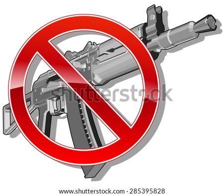 no gun sign. vector illustration 2 - stock vector
