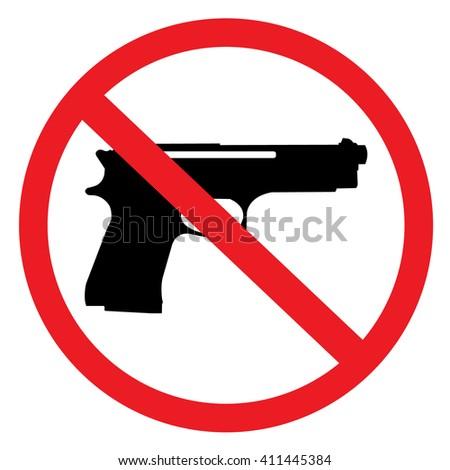 No Guns Allowed - stock vector