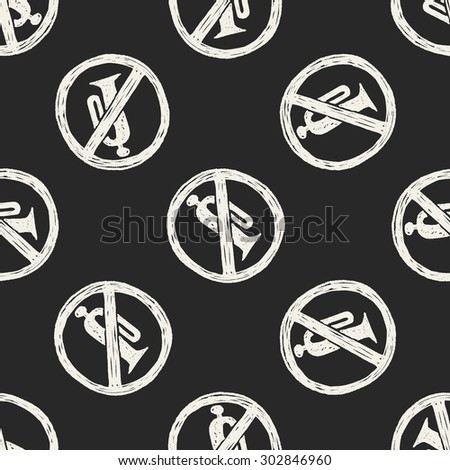 No horn doodle seamless pattern background