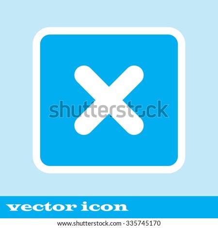 no icon. blue icon. eps 10. - stock vector