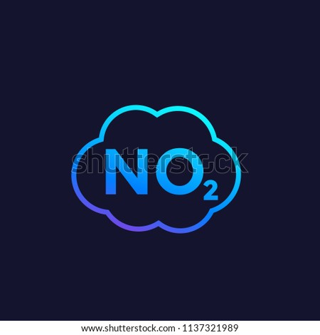 No 2 Icon Nitrogen Dioxide Vector Stock Vector 1137321989 Shutterstock
