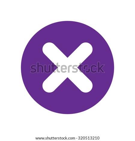 no icon. violet icon. eps 10. - stock vector
