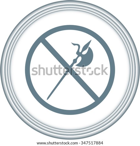 no knife symbol, no weapon, prohibited symbol