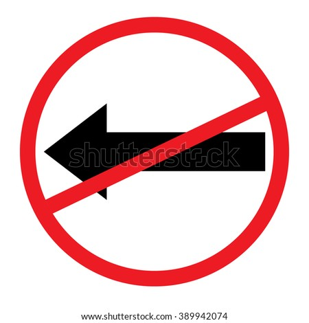No left sign