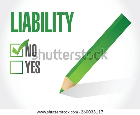 no liability check mark illustration design over a white background