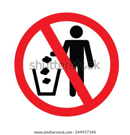 No littering sign vector - stock vector