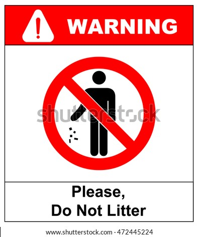 No littering vector