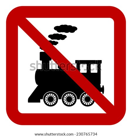 No locomotive sign on white background. Vector illustration. - stock vector