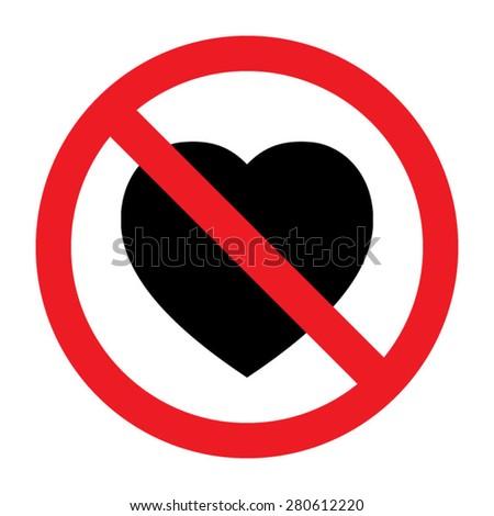 No Love Heart Stock Vector 280612220 - Shutterstock