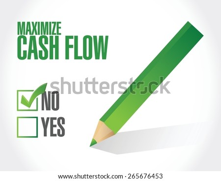 no maximize cash flow illustration design over white background