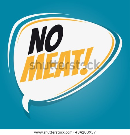 no meat retro speech bubble