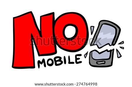 no mobile message - stock vector