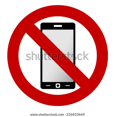 no mobile phone allowed sign turn stock vector 226810669 shutterstock rh shutterstock com No Cell Phone Usage Sign No Cell Phone Emoji