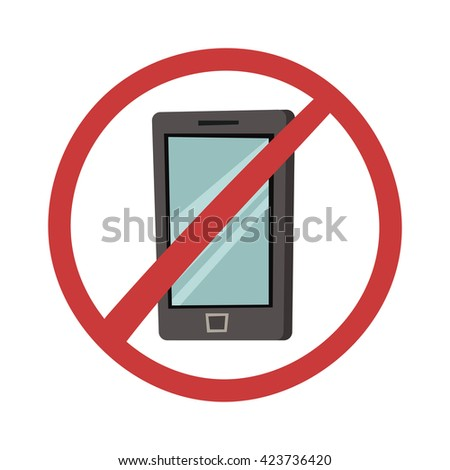 No mobile phone allowed sign turn off phone. Turn off mobile phone vector. No cell phone sign. Vector illustration turn off phone sign, phone and sign are on separate layers turn off phone.
