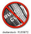 no more budget cuts with barcode - vector - stock vector