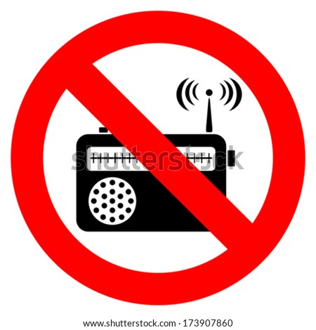 No music sign - stock vector