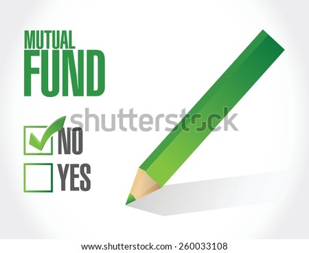 no mutual fund check mark illustration design over a white background