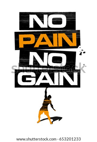 No pain, no gain. Poster / sign / logo / banner for fitness club..eps10