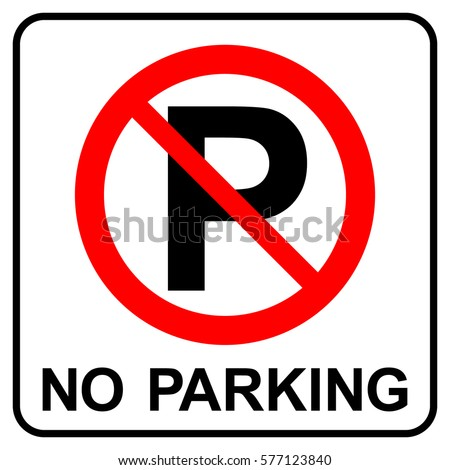 No parking or stopping sign, vector illustration.