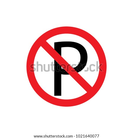 No parking sign and symbol