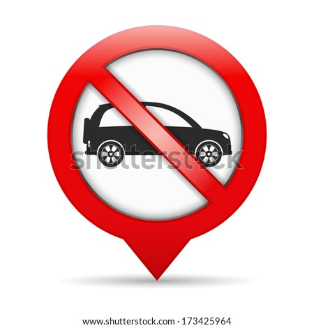 No parking sign, vector eps10 illustration - stock vector