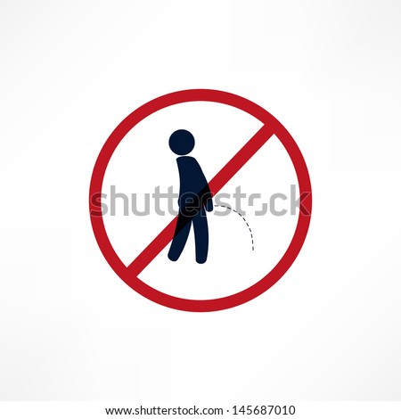 No peeing symbol - stock vector